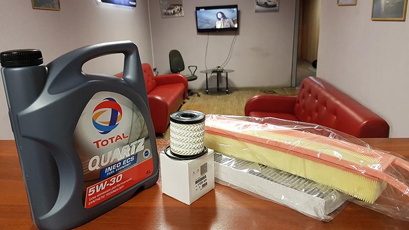 Замена моторного масла для автомобилей Peugeot и Citroen