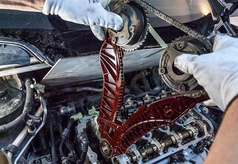 Замена натяжителя цепи на моторе EP6